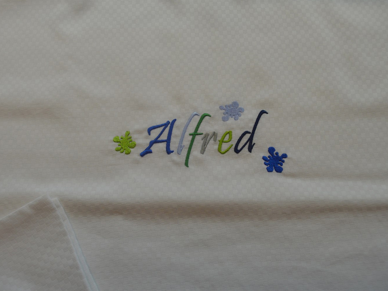 Baby sengetøj - broderet Alfred